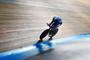 cycling in a velodrome