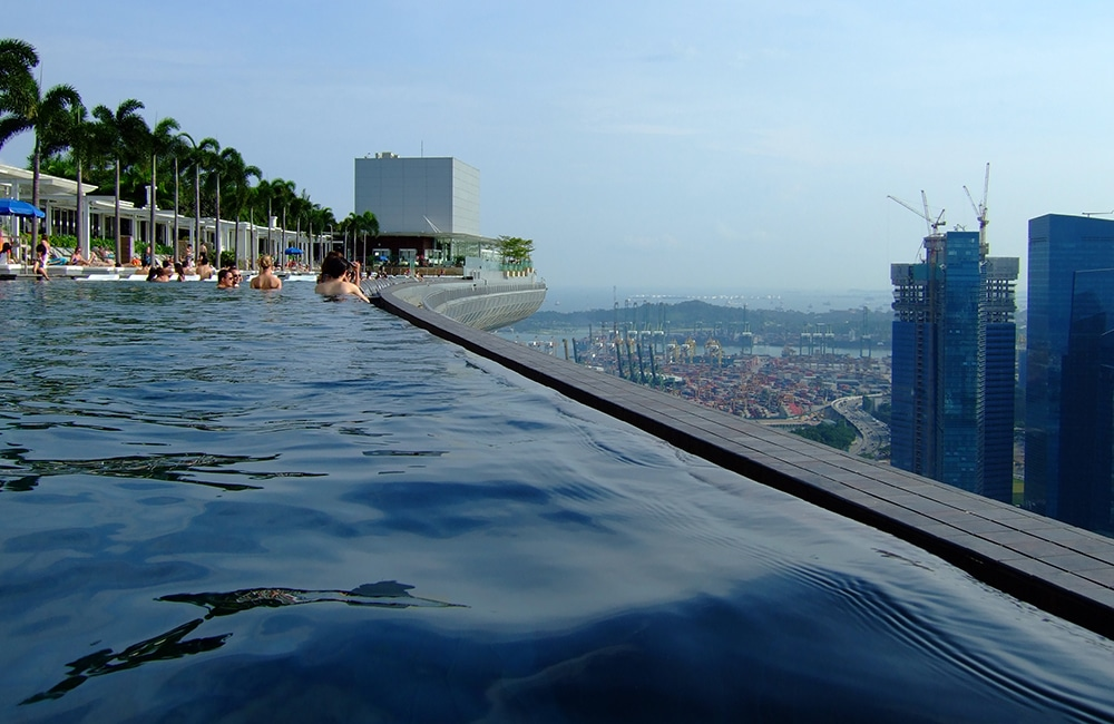 swimming Marina Bay Sands