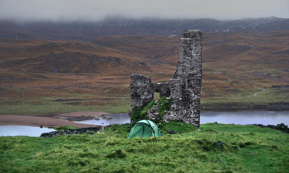 Loch Assynt Ness Knight Scotland