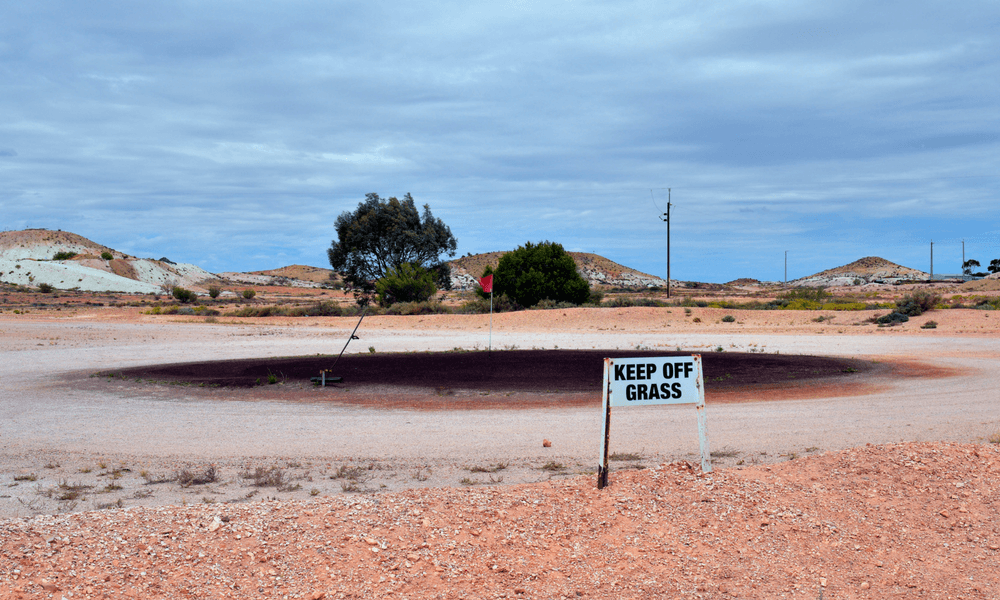 Unique Golf Course - Coober Pedy