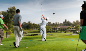 Golf Tee Shot - Clubhouse