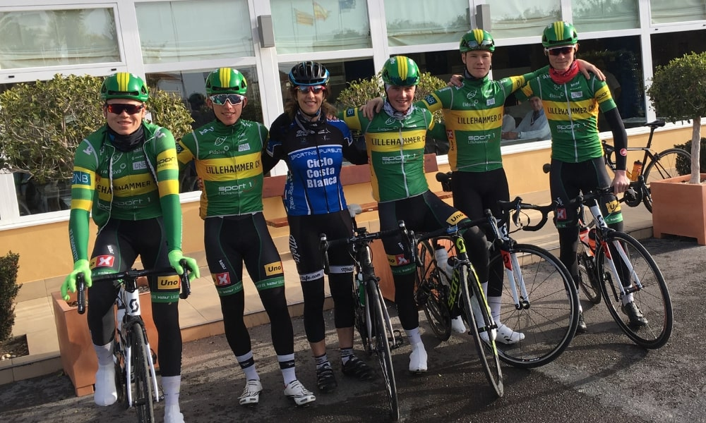Cyclists on overseas training break