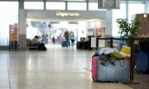 Unattended baggage at airport